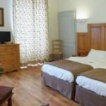 Chambre à l'hôtel Charles Sander à Salins les bains dans le Jura