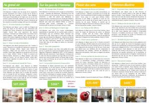 Séjours à thème hotel des Deux Forts et hotel le Bois Dormant Jura 2016