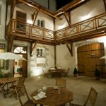 Le patio de nuit-hôtel Charles Sander - jura